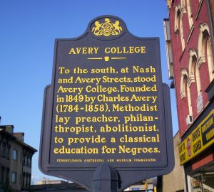 Avery College Marker