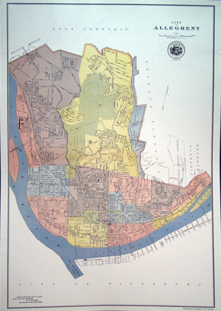 The Official 1899 Map of the City of Allegheny